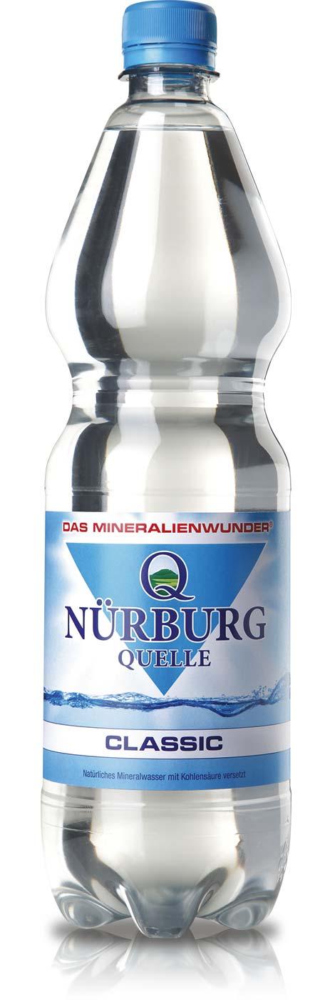 Nürburg Quelle Classic in der 1 Liter PET-Flasche
