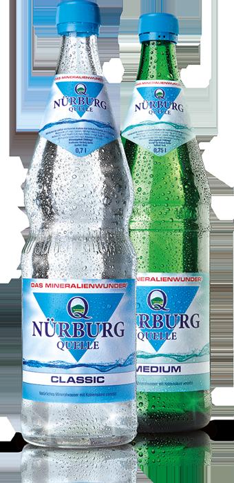 Nürburg Quelle Classic in der 0,75 Liter Glasflasche