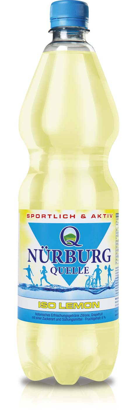 Nürburg Quelle ISO Lemon in der 1 Liter PET-Flasche
