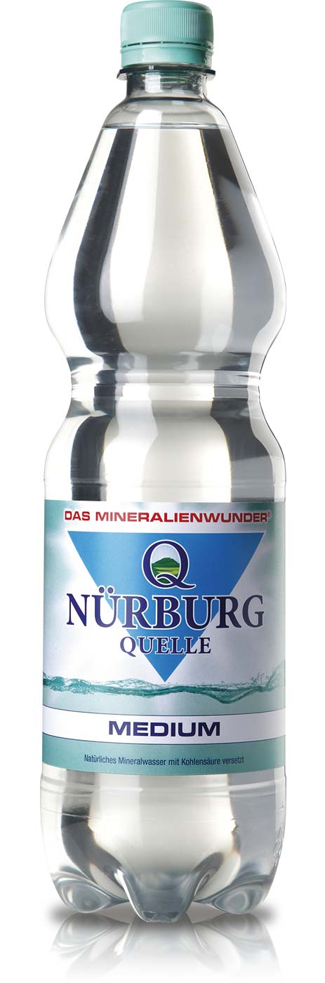 Nürburg Quelle Medium in der 1 Liter PET-Flasche