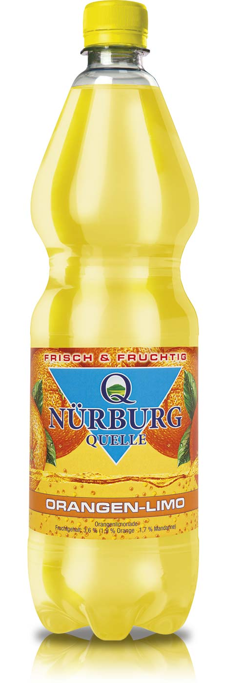 Nürburg Quelle Orangen-Limonade in der 1 Liter PET-Flasche